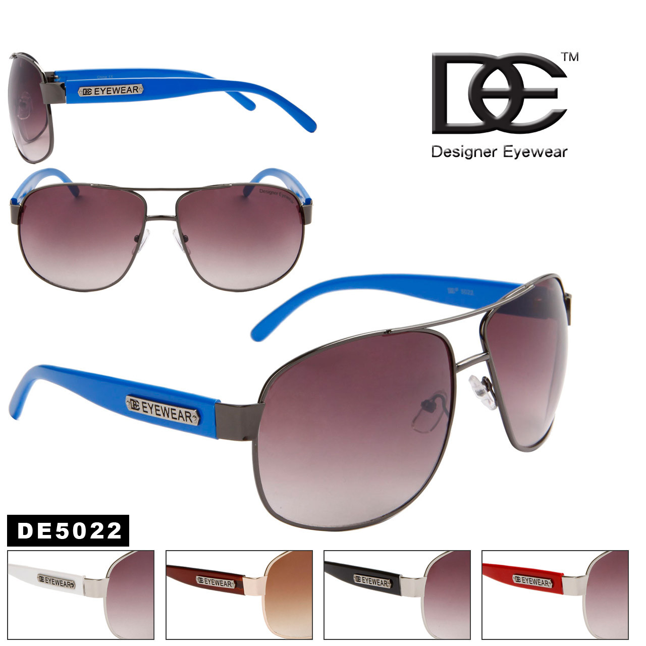 Wholesale Aviator Sunglasses by the Dozen DE5022