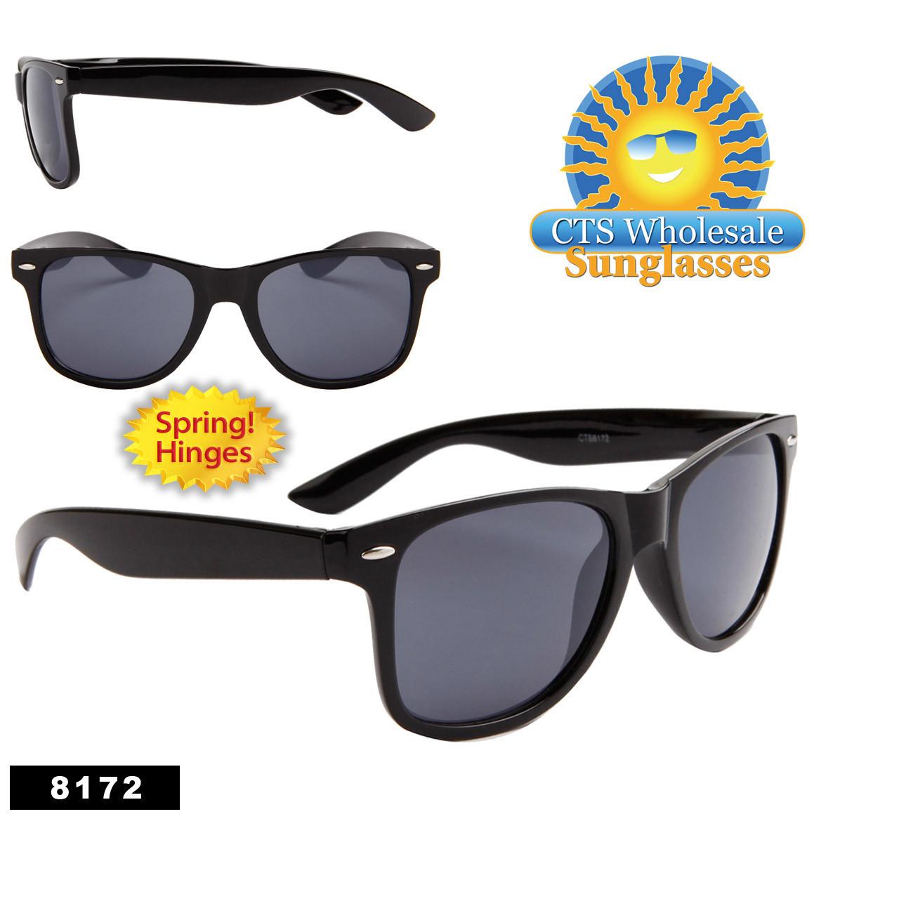 Wholesale Black California Classics Sunglasses - Style #8172 Spring Hinge!