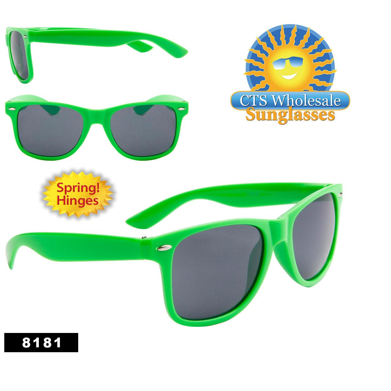 Wholesale Lime Green California Classics- Style # 8181 (12 pcs.) Spring Hinge