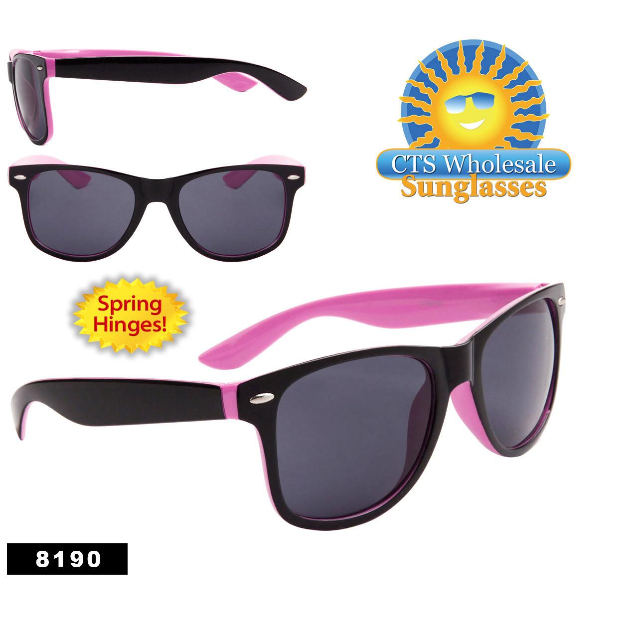 California Classics Sunglasses Wholesale - Style # 8190 (12 pcs.) Spring Hinge