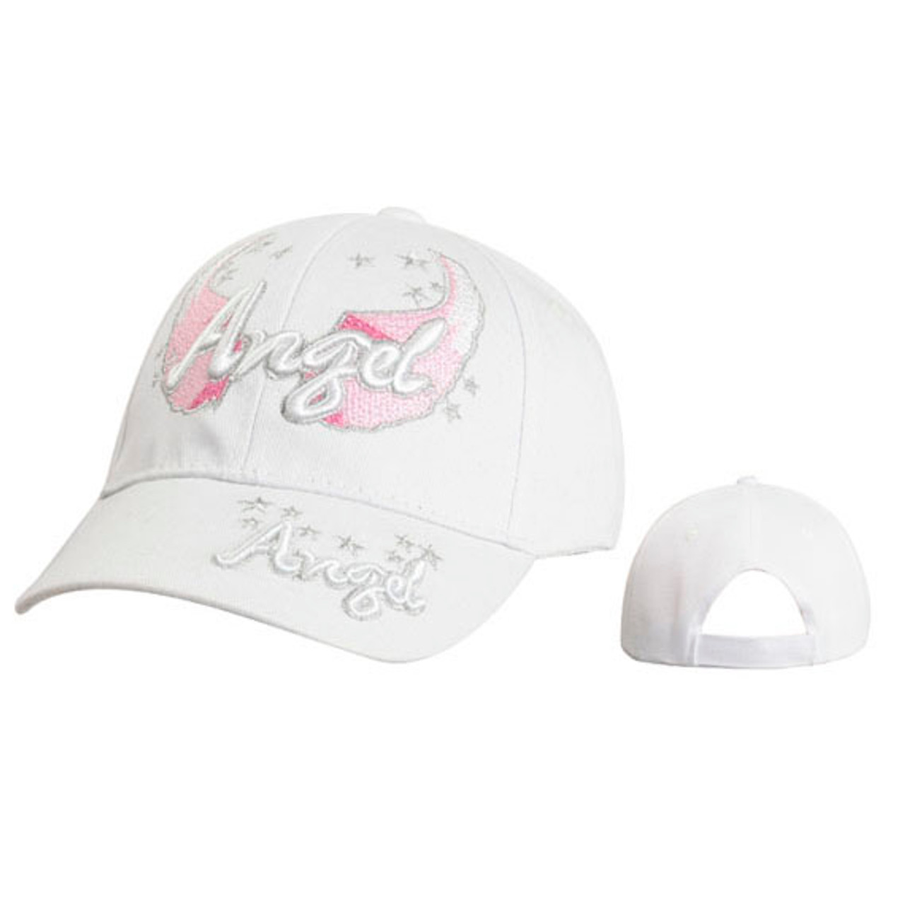 "Wholesale Baseball Cap ""Angel"" White"