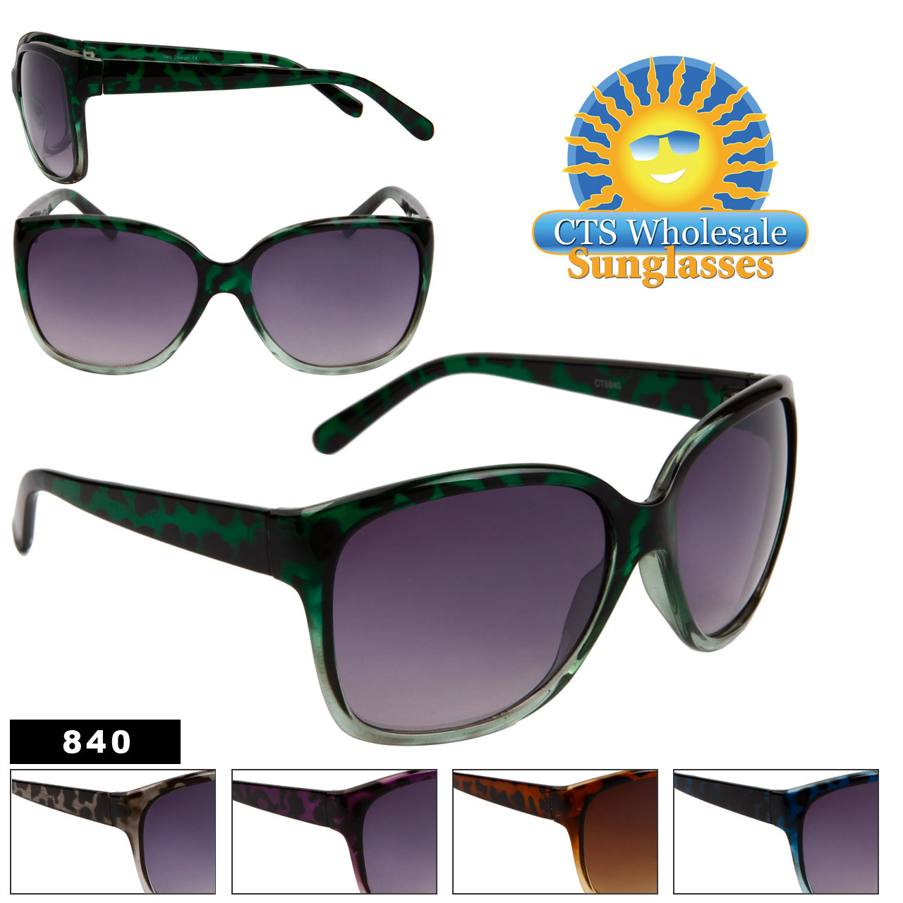 Women's Wholesale Fashion Sunglasses - Style # 840