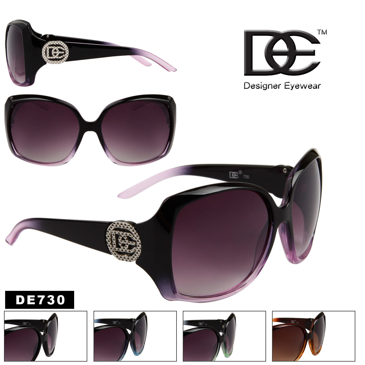 7fb88f3d82 Wholesale Designer Eyewear Sunglasses - Style   DE730 (12 pcs.)