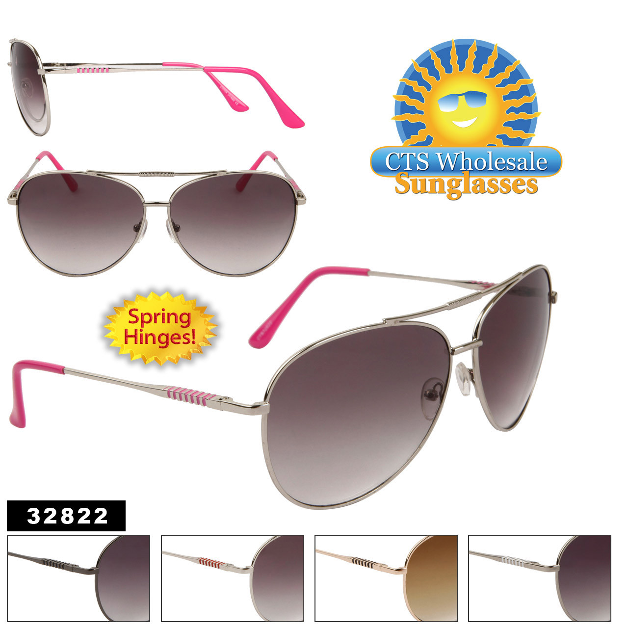 Wholesale Aviator Sunglasses - Style # 32822