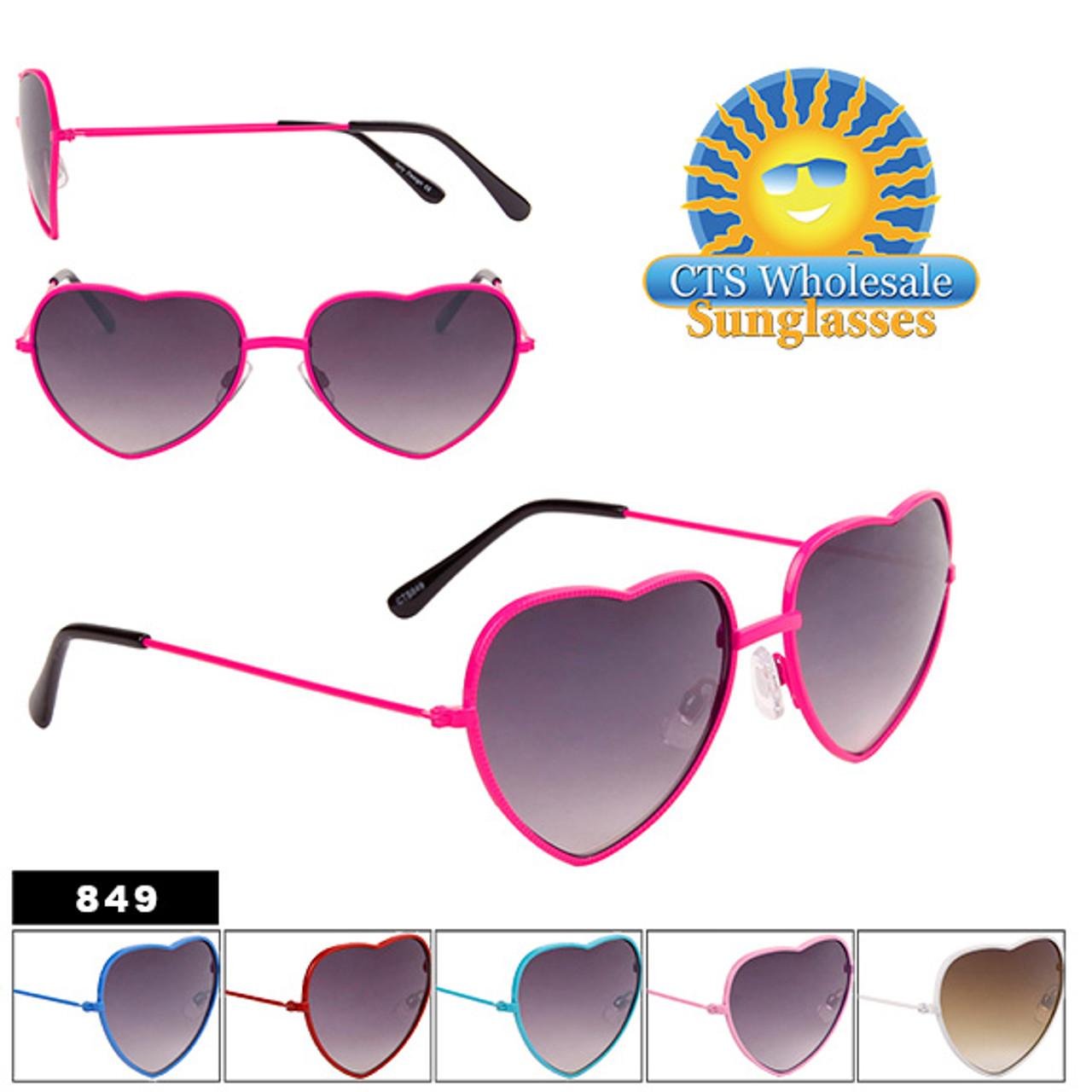Wholesale Heart Sunglasses - Style #849