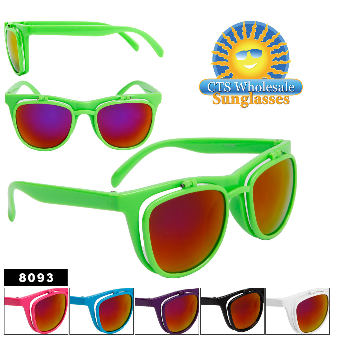 Flip Up California Classics Sunglasses by the Dozen 8093