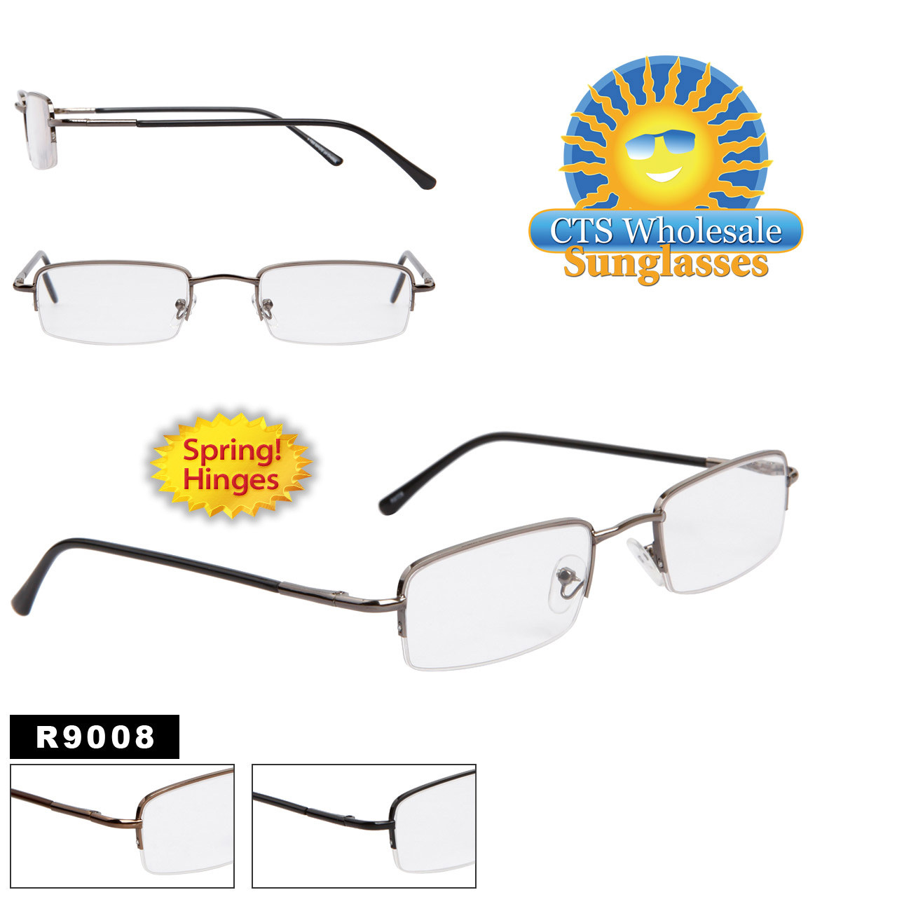 Reading Glasses with Spring Hinges R9008