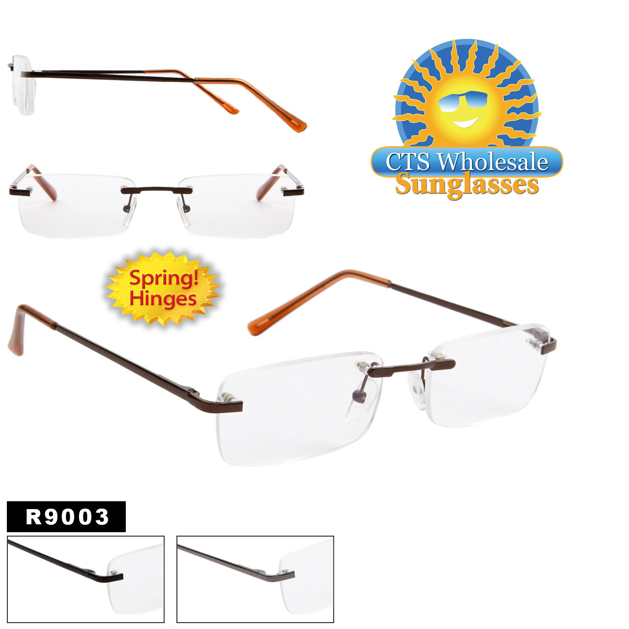 Spring Hinge Reading Glasses R9003