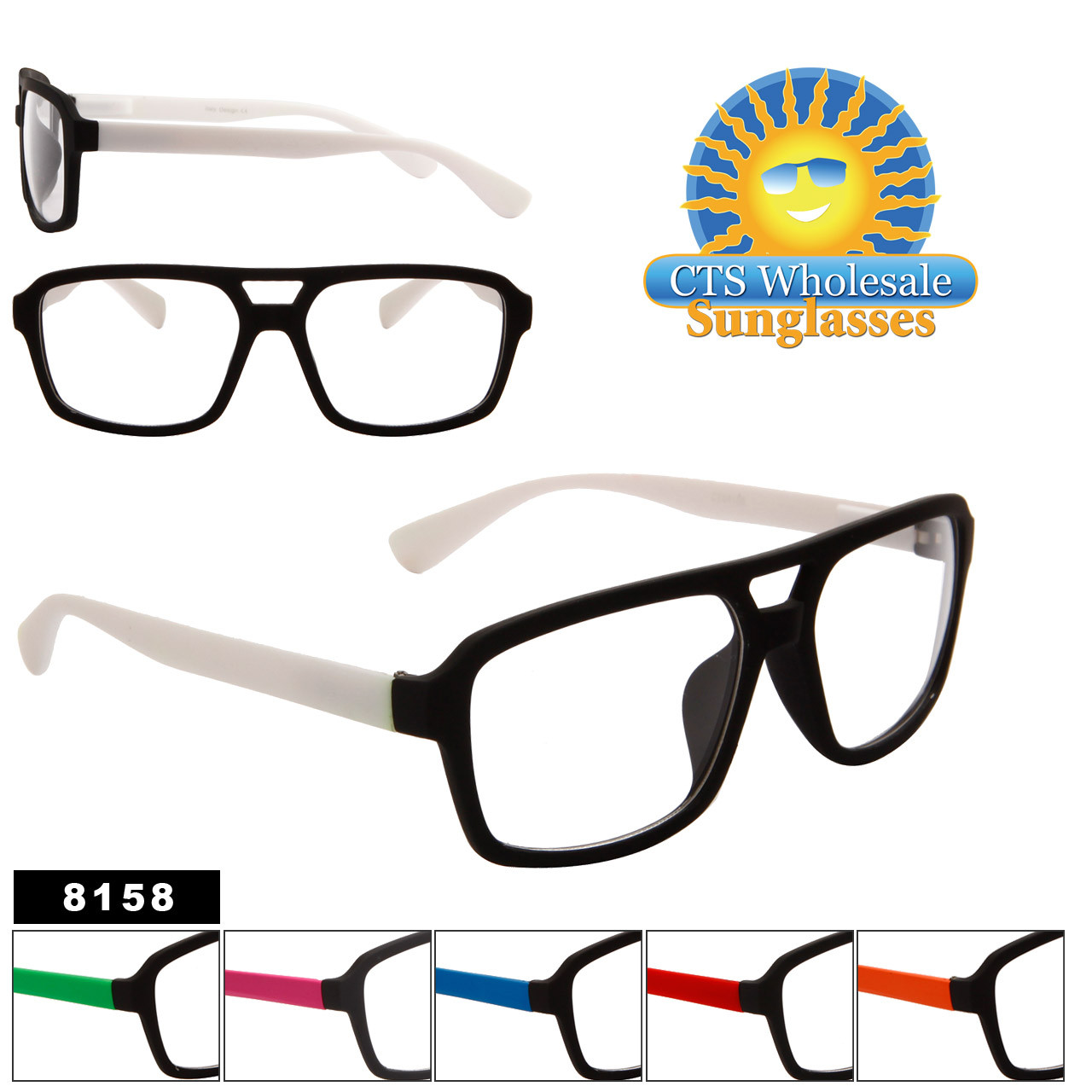 Clear Lens Sunglasses 8158