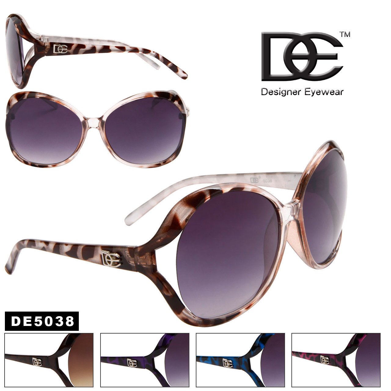 Animal Print Fashion Sunglasses DE5038