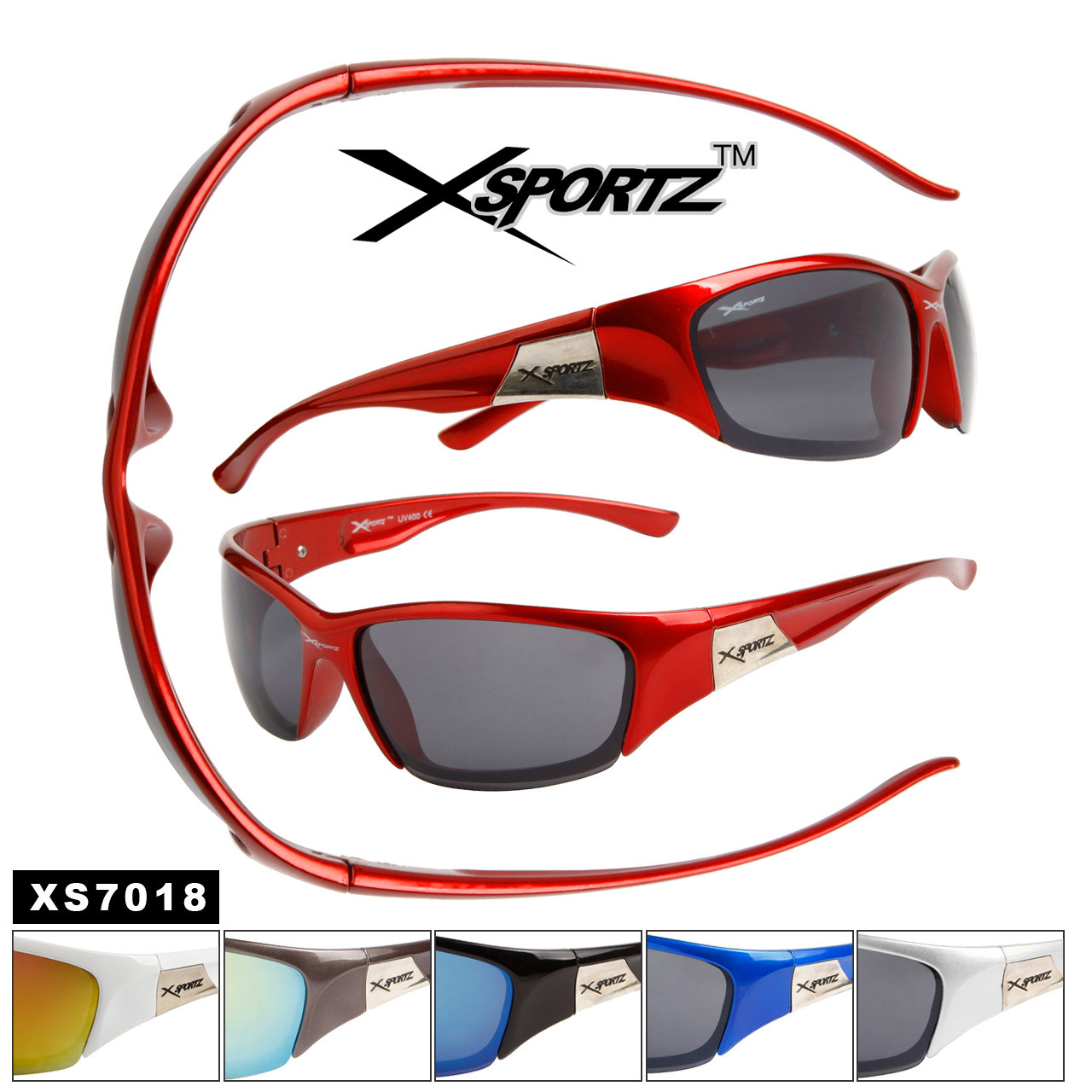 Xsportz™ Men's Sports Sunglasses Wholesale - Style # XS7018