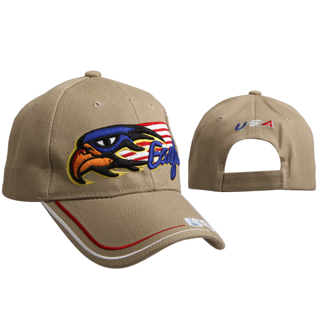 Eagle with American Flag C6012 Beige