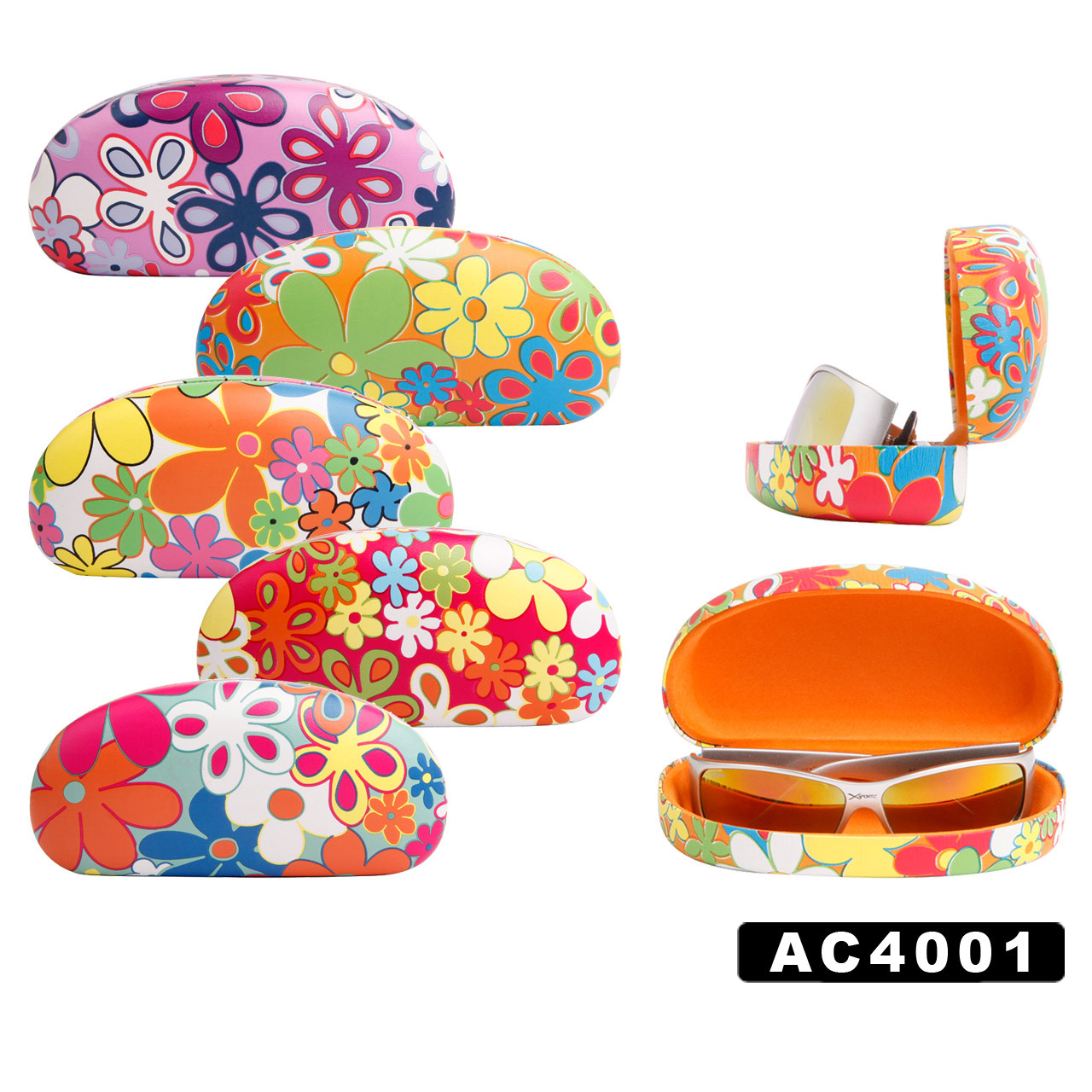 Floral Print Wholesale Sunglass Hard Cases AC4001
