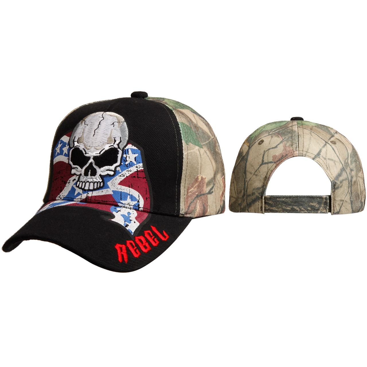 Wholesale Rebel Cap w/Skull C6005