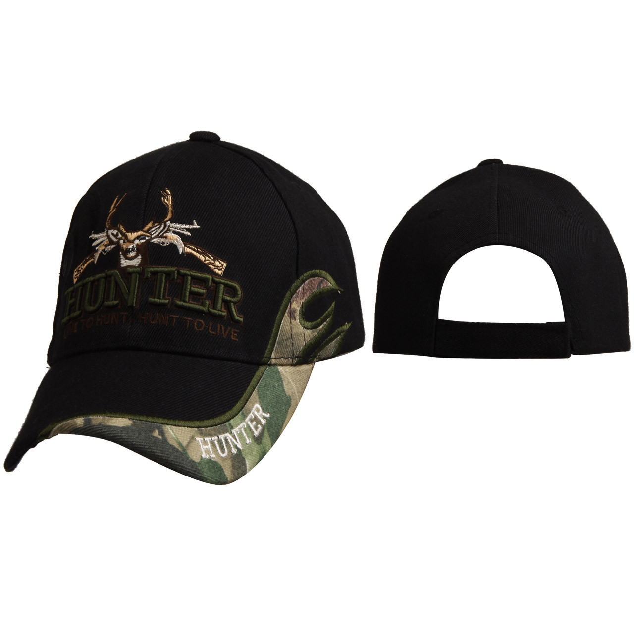 """Wholesale Hunting Cap C6013 """"HUNTER Live to Hunt. Hunt to Live"""""""
