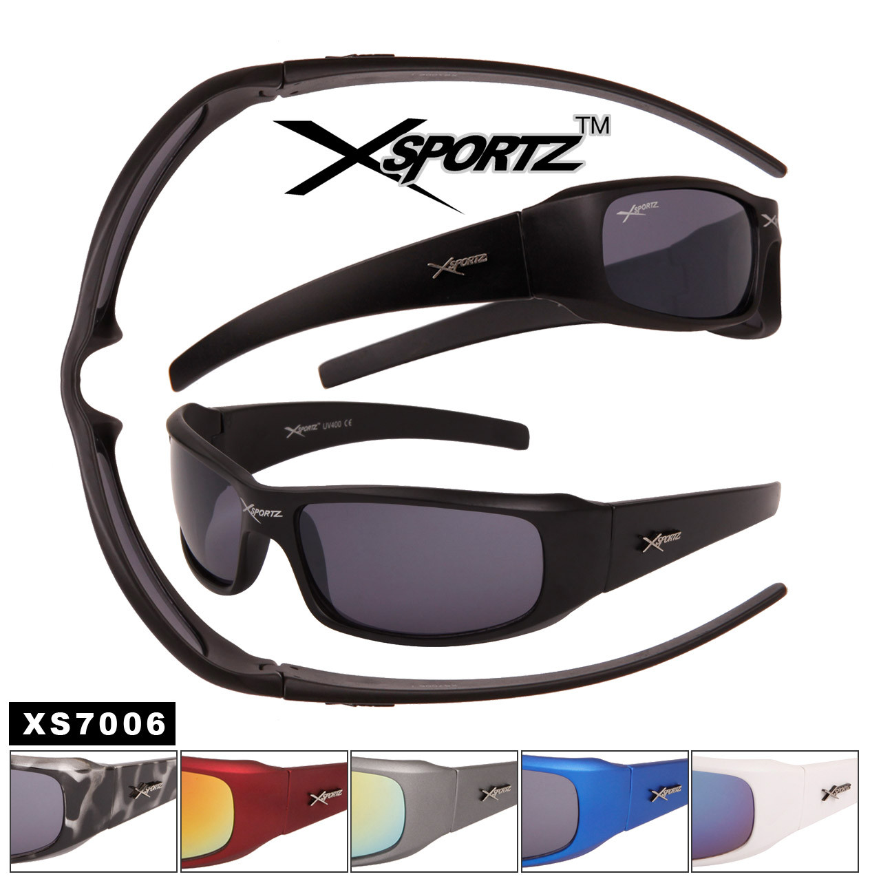 Xsportz™ Men's Sunglasses in Bulk - Style #XS7006