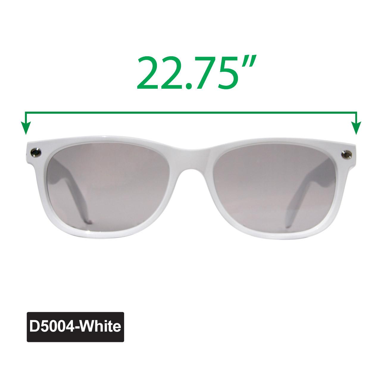 Large California Classics Sunglasses - Display D5004-White