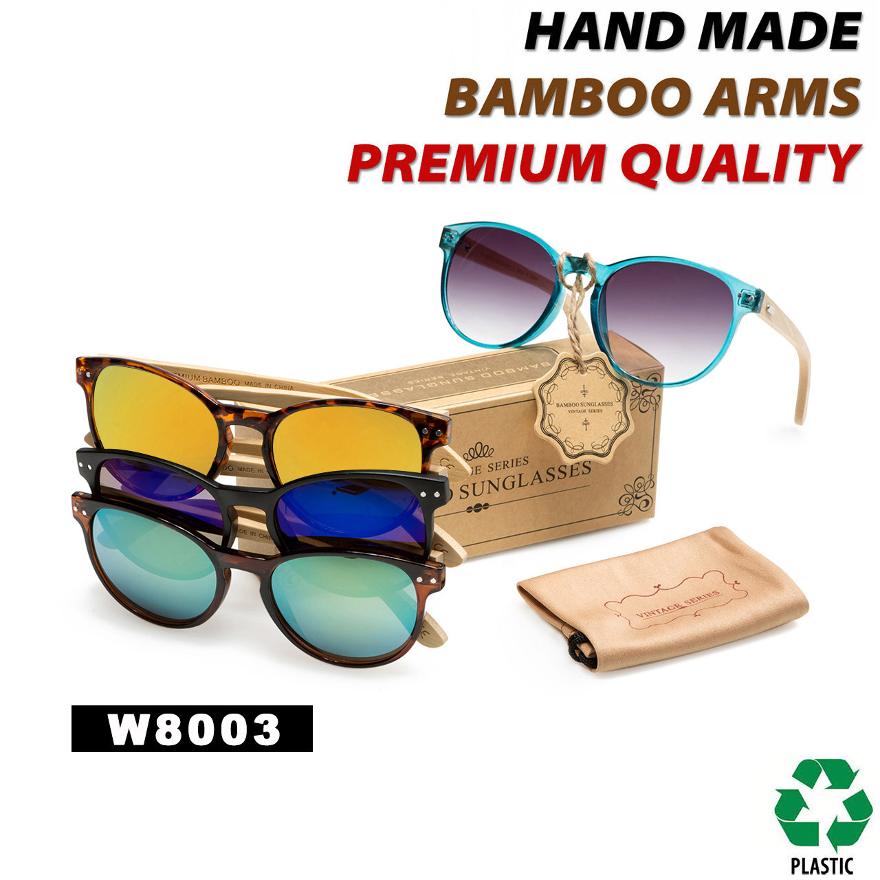 c33d15ba7e93 Women s Fashion Bamboo Wood Sunglasses - Style  W8003