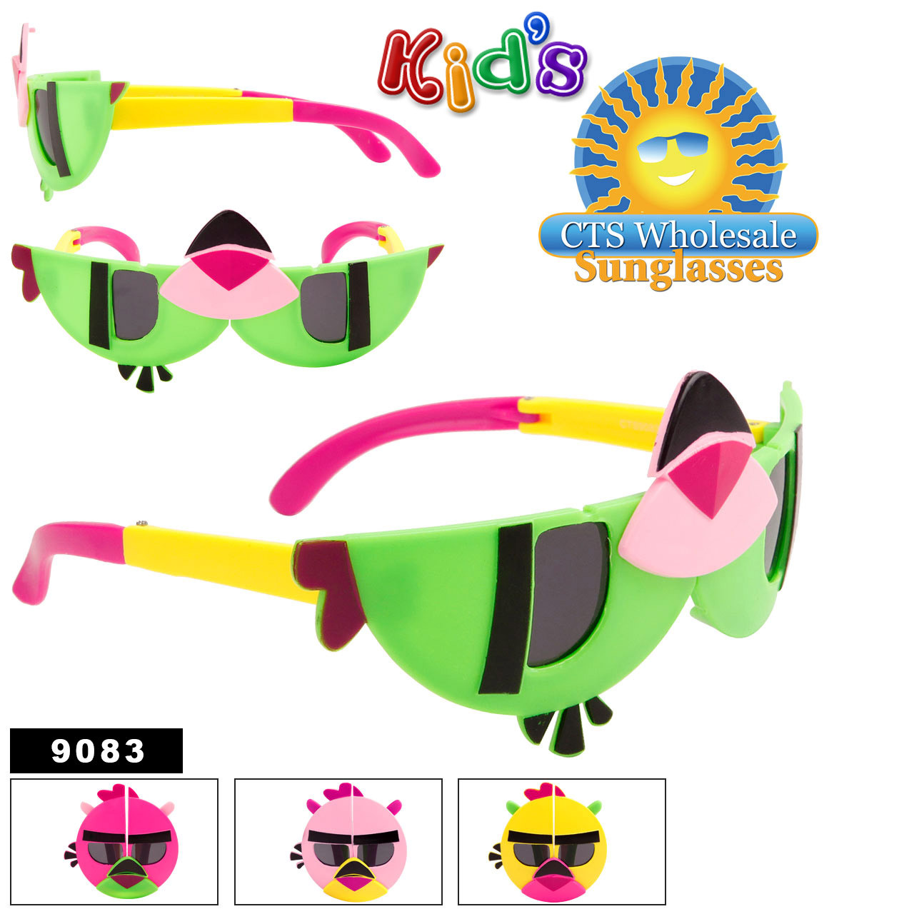 Wholesale Folding Kid's Sunglasses - Style #9083