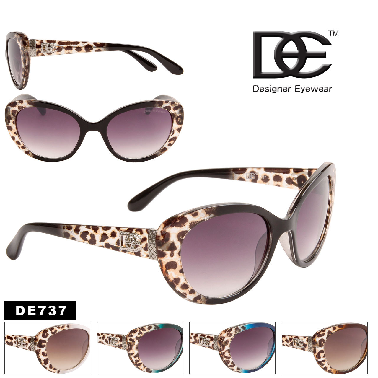 Wholesale Vintage Cat Eye Sunglasses - Style #DE737
