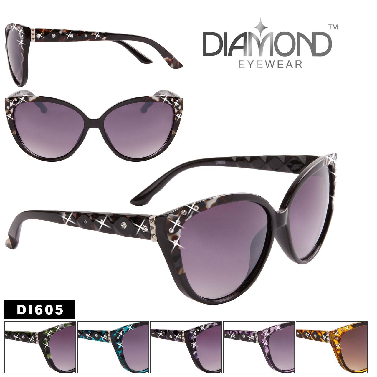 Bulk Cat-Eye Rhinestone Sunglasses - Style #DI605