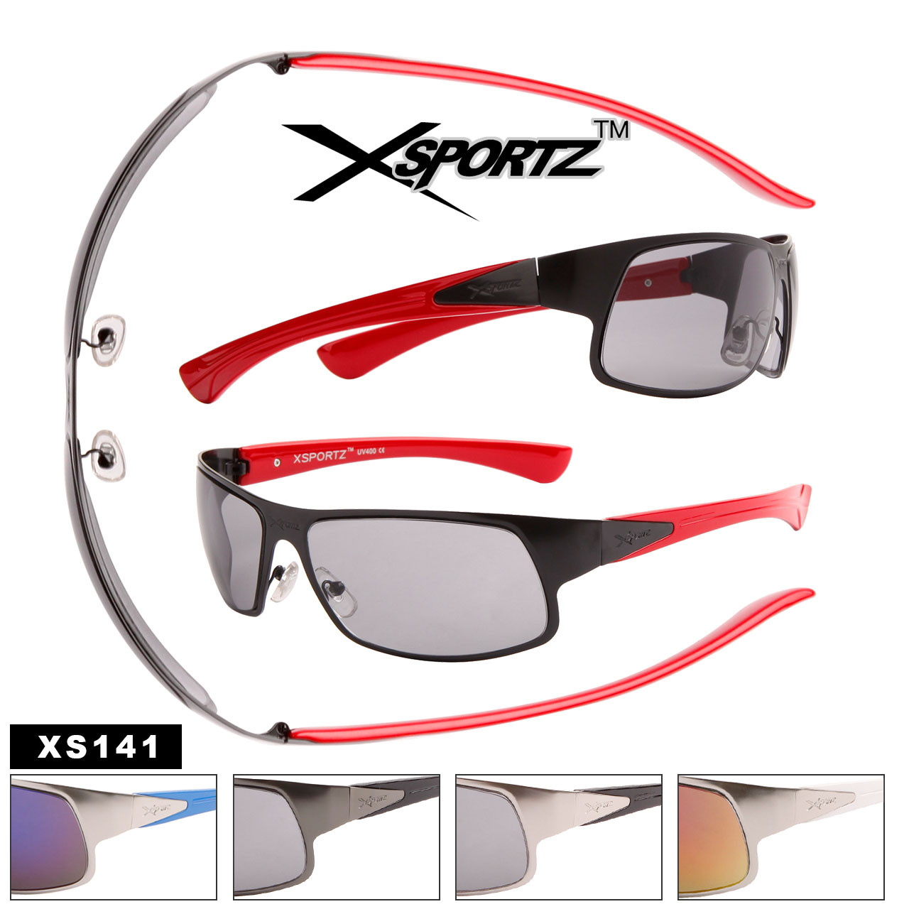Men's Wholesale Sport Sunglasses - Style #XS141