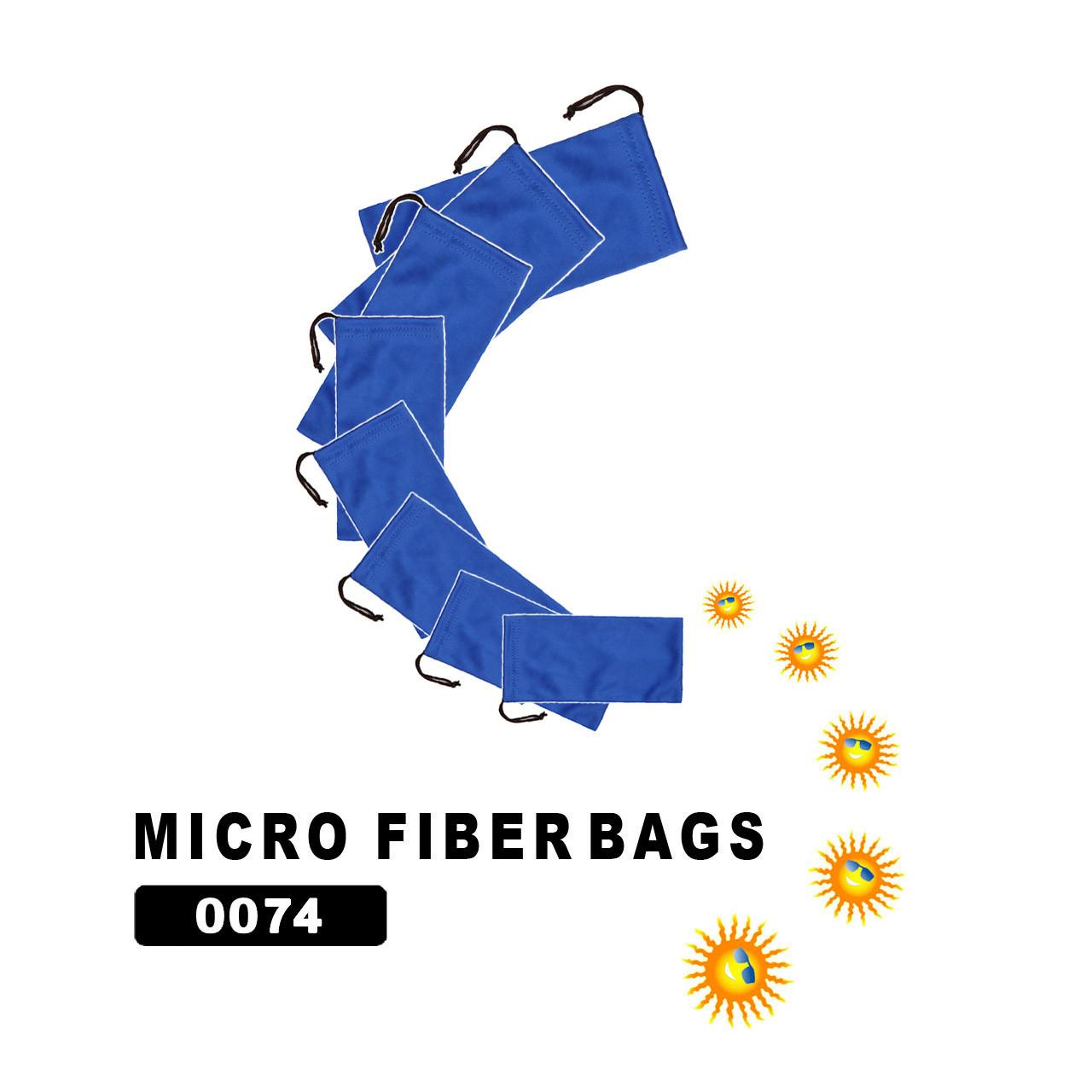 Wholesale Microfiber Bags - Blue #0074
