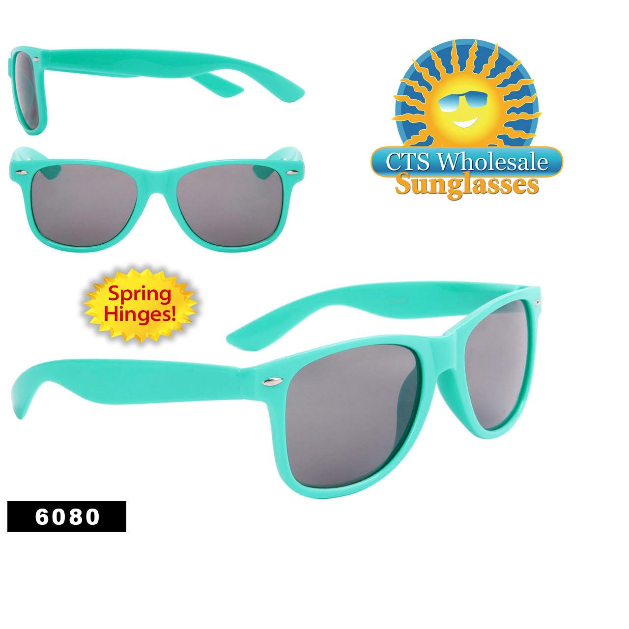 Wholesale Turquoise California Classics Sunglasses - Style #6080 Spring Hinge