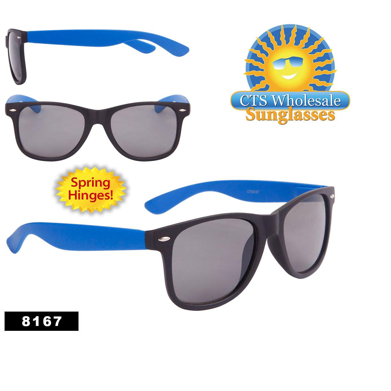Matte Black & Blue Wholesale California Classics by the Dozen - Style # 8167M Spring Hinge
