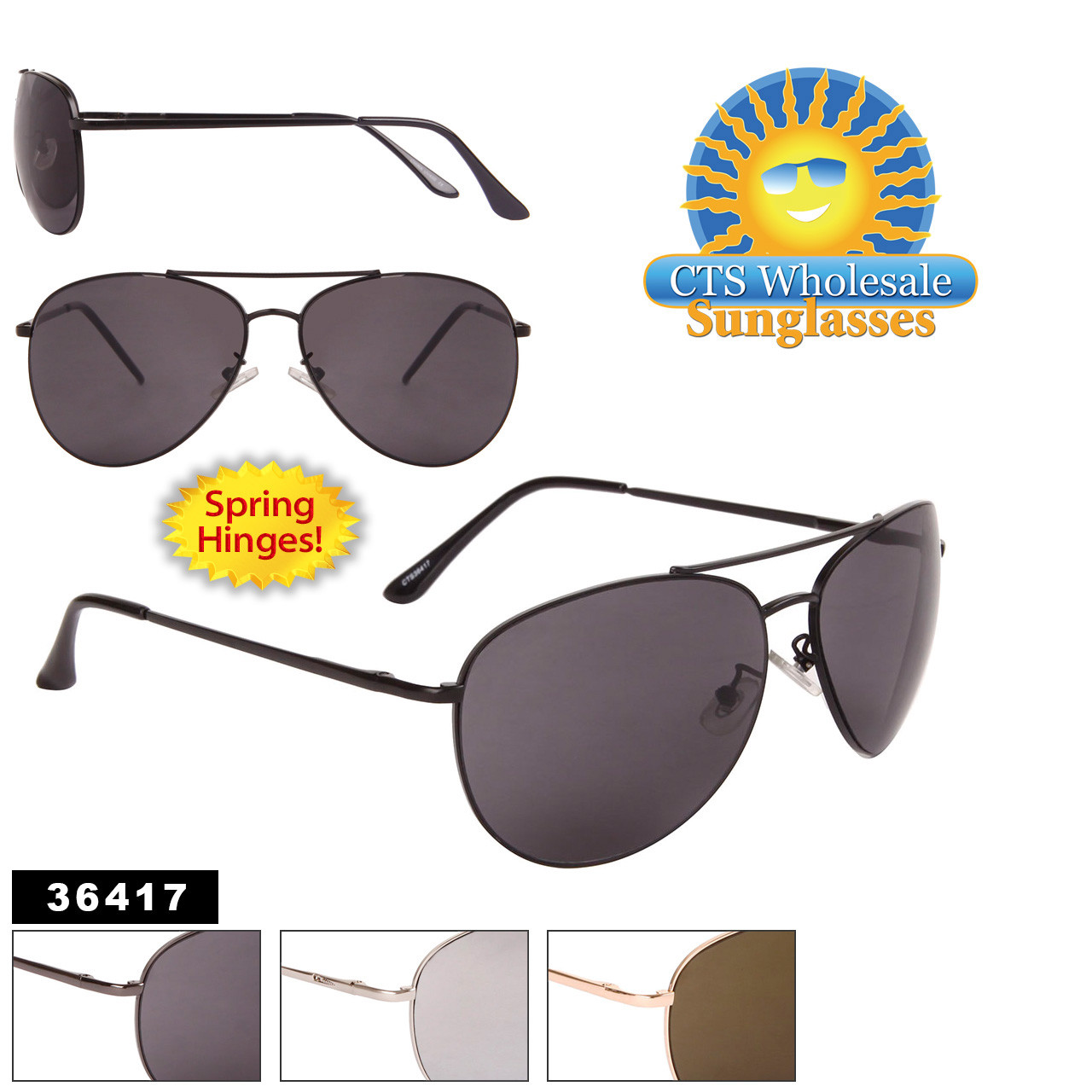 Wholesale Aviator Sunglasses - Style #36417