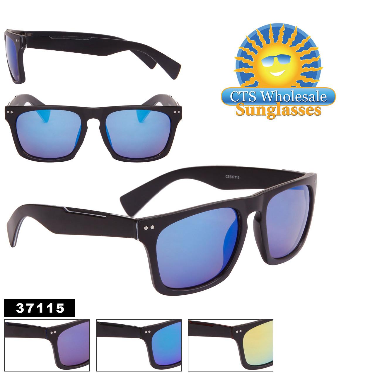 Mirrored Unisex Sunglasses by the Dozen - Style #37115