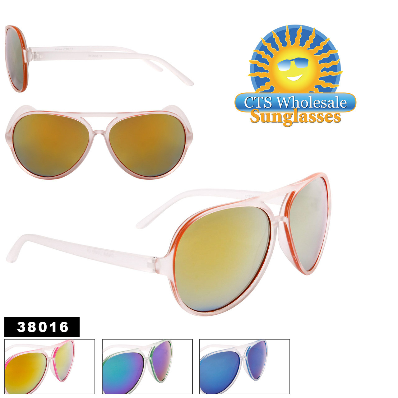 Wholesale Mirrored Aviators - Style #38016