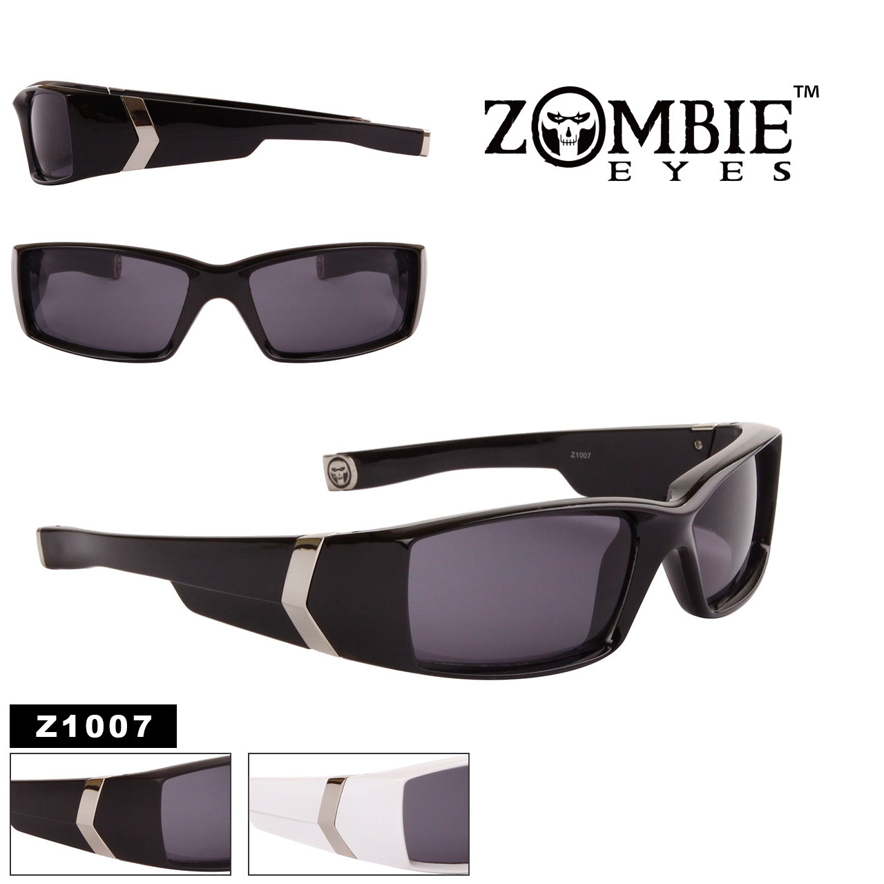 Wholesale Men's Designer Zombie Eyes™ Sunglasses - Style #Z1007