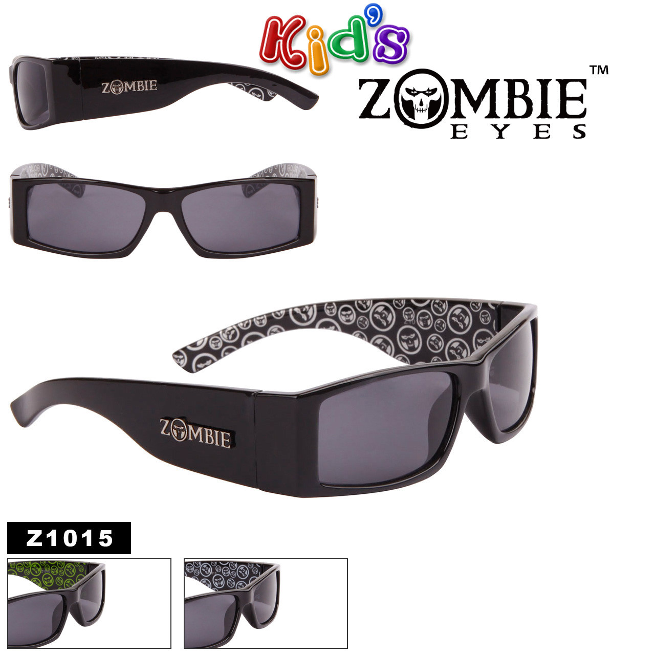 Zombie Eyes™ Wholesale Kid's Designer Sunglasses - Style #Z1015