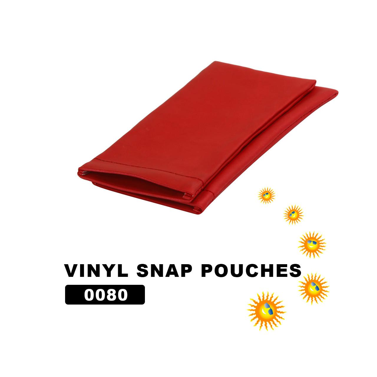 Wholesale Vinyl Snap Pouches ~ Red ~ 0080