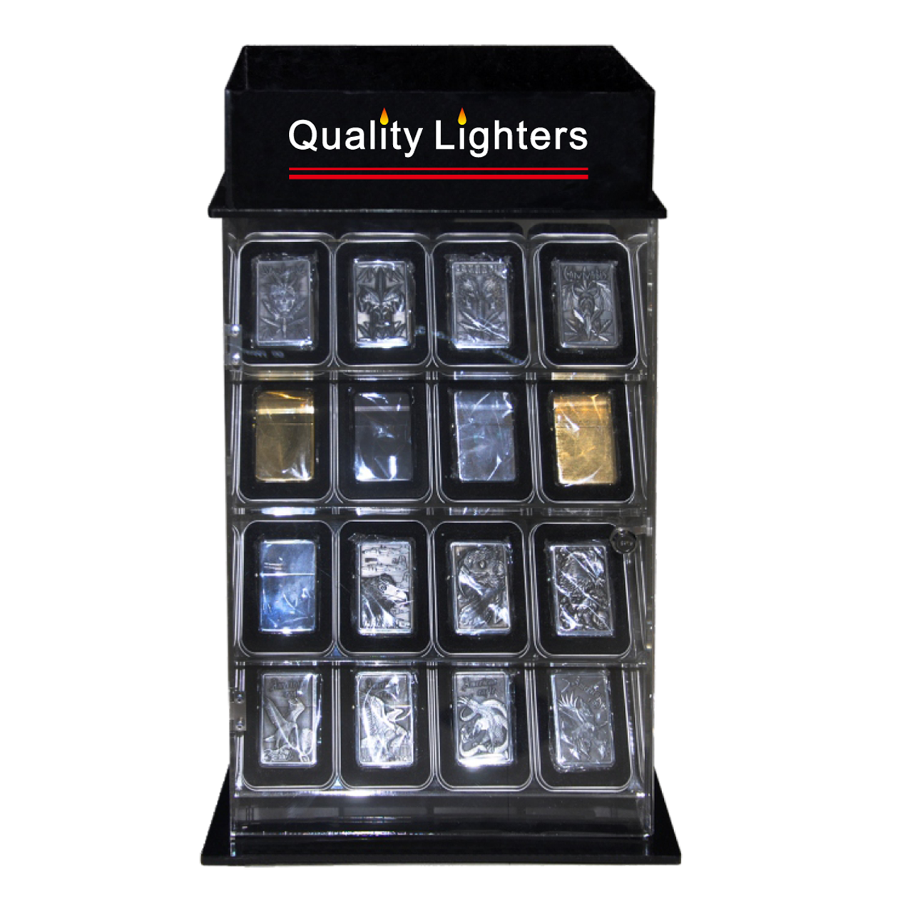 Lighter Display Case L218 Rotating/Locking