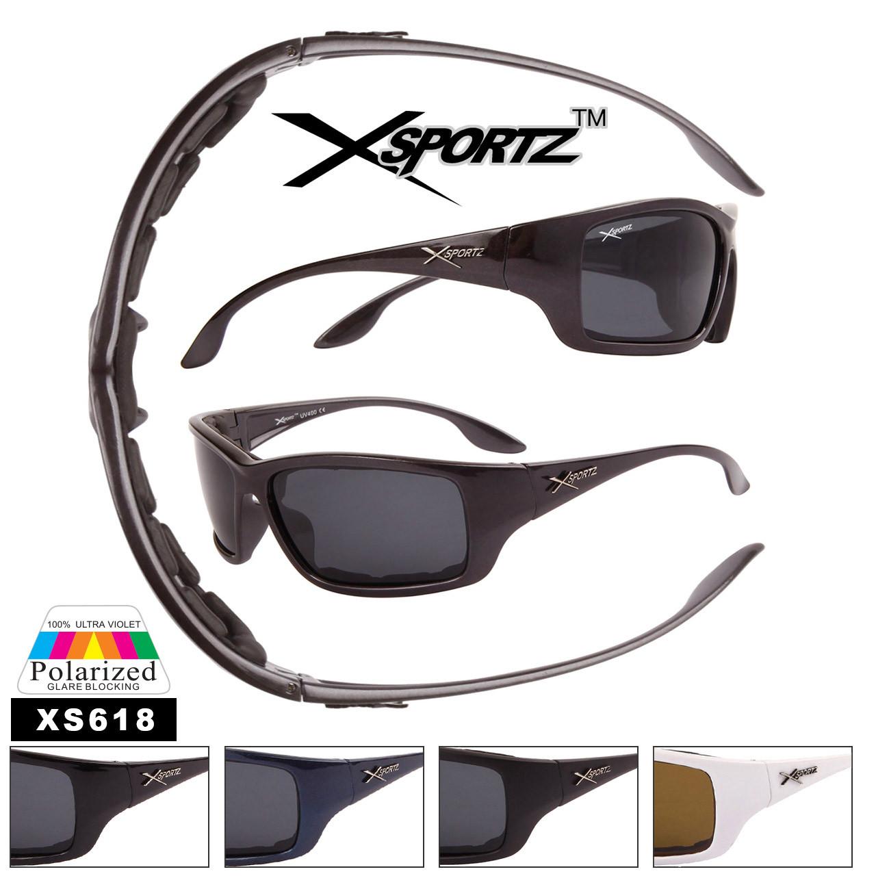 Men's Polarized Xsportz ™ Sunglasses - Style #XS618 Foam Padded