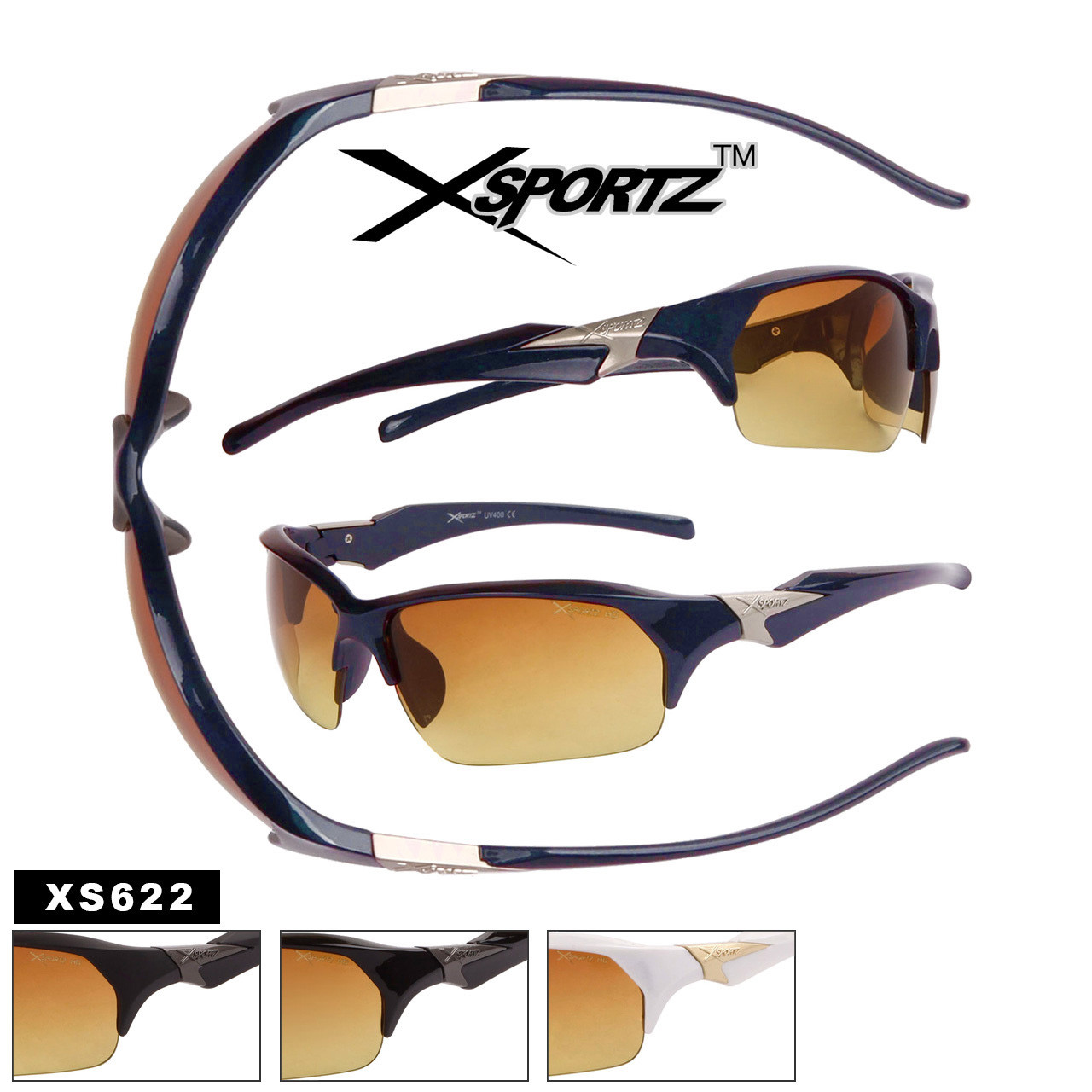 Xsportz™ Sports HD Sunglasses - Style #XS622