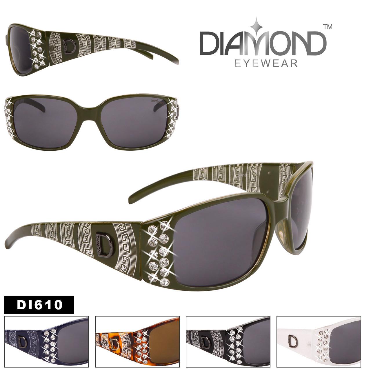 Diamond™ Rhinestone Etched Temple Sunglasses - Style #DI610