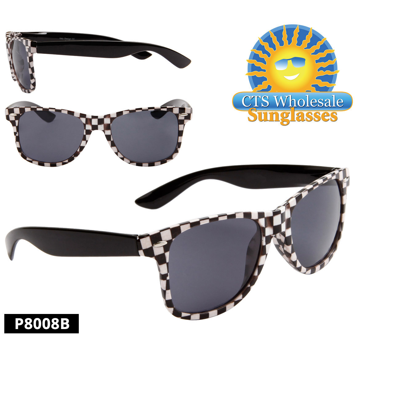 Checkered California Classics Sunglasses - Style P8008B