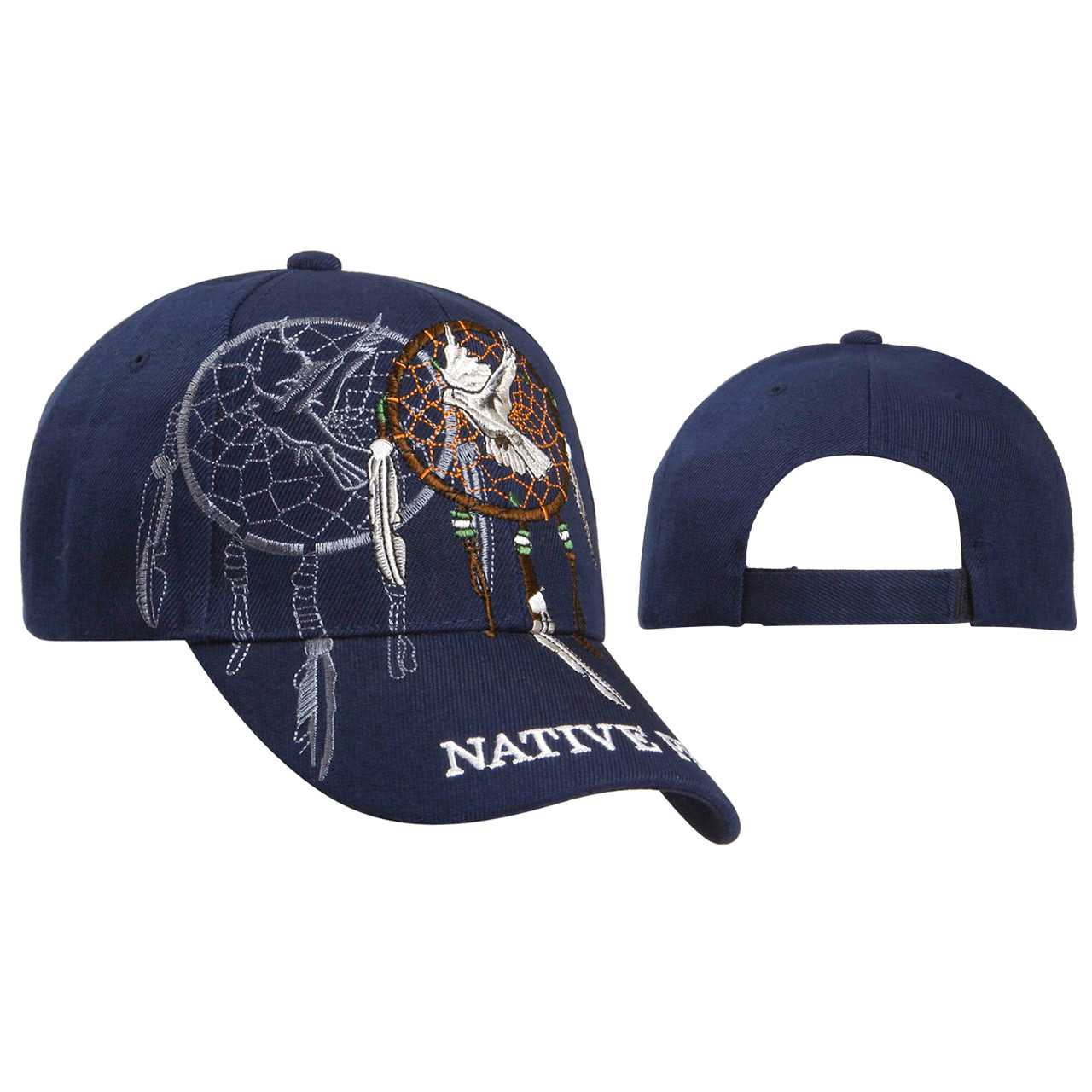 Baseball Caps Wholesale ~ Dreamcatcher with Dove ~ Navy Blue