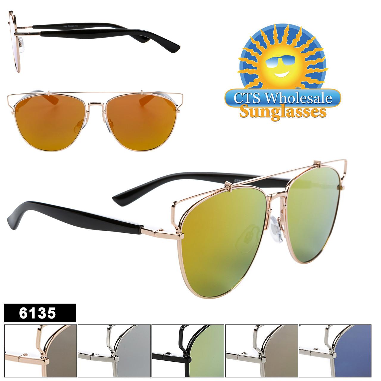Hipster Aviator Sunglasses - Style #6135