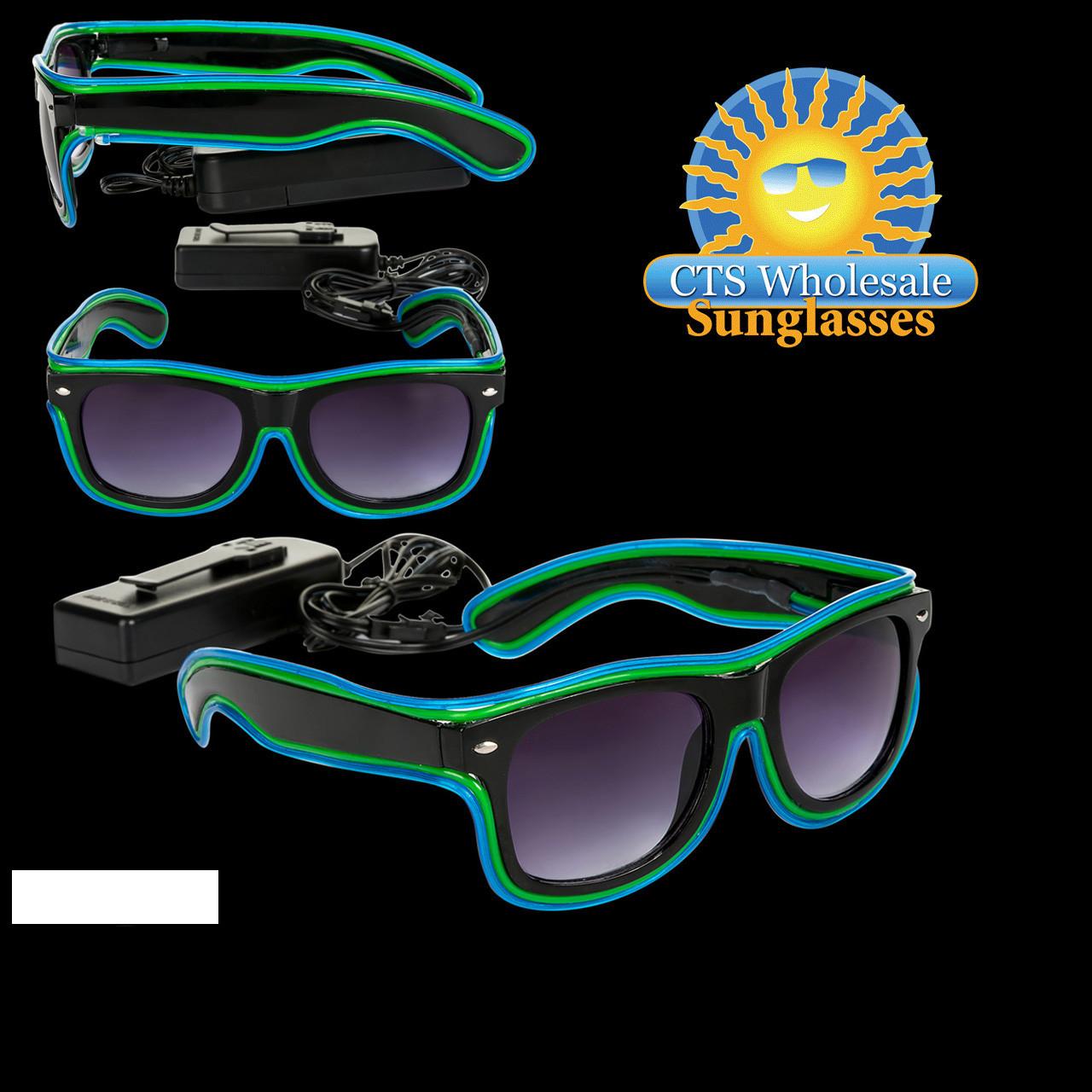 Green & Blue LED Sunglasses LS002