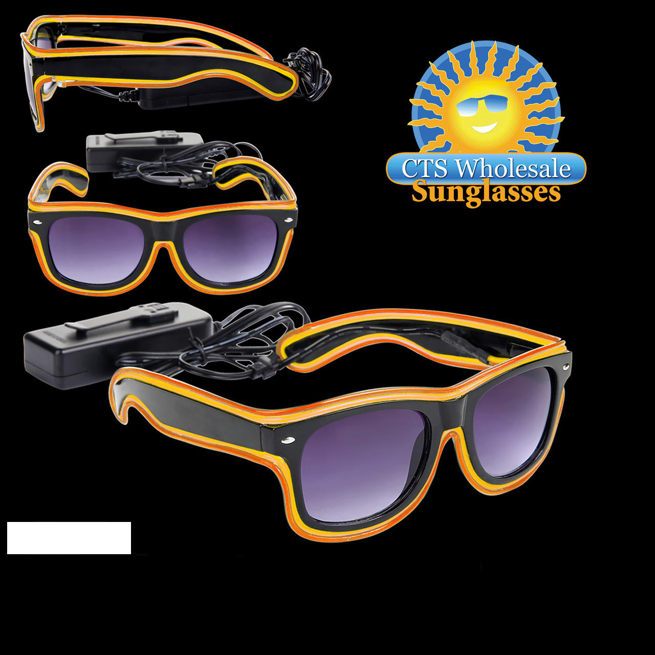 Orange & Yellow LED Sunglasses LS003
