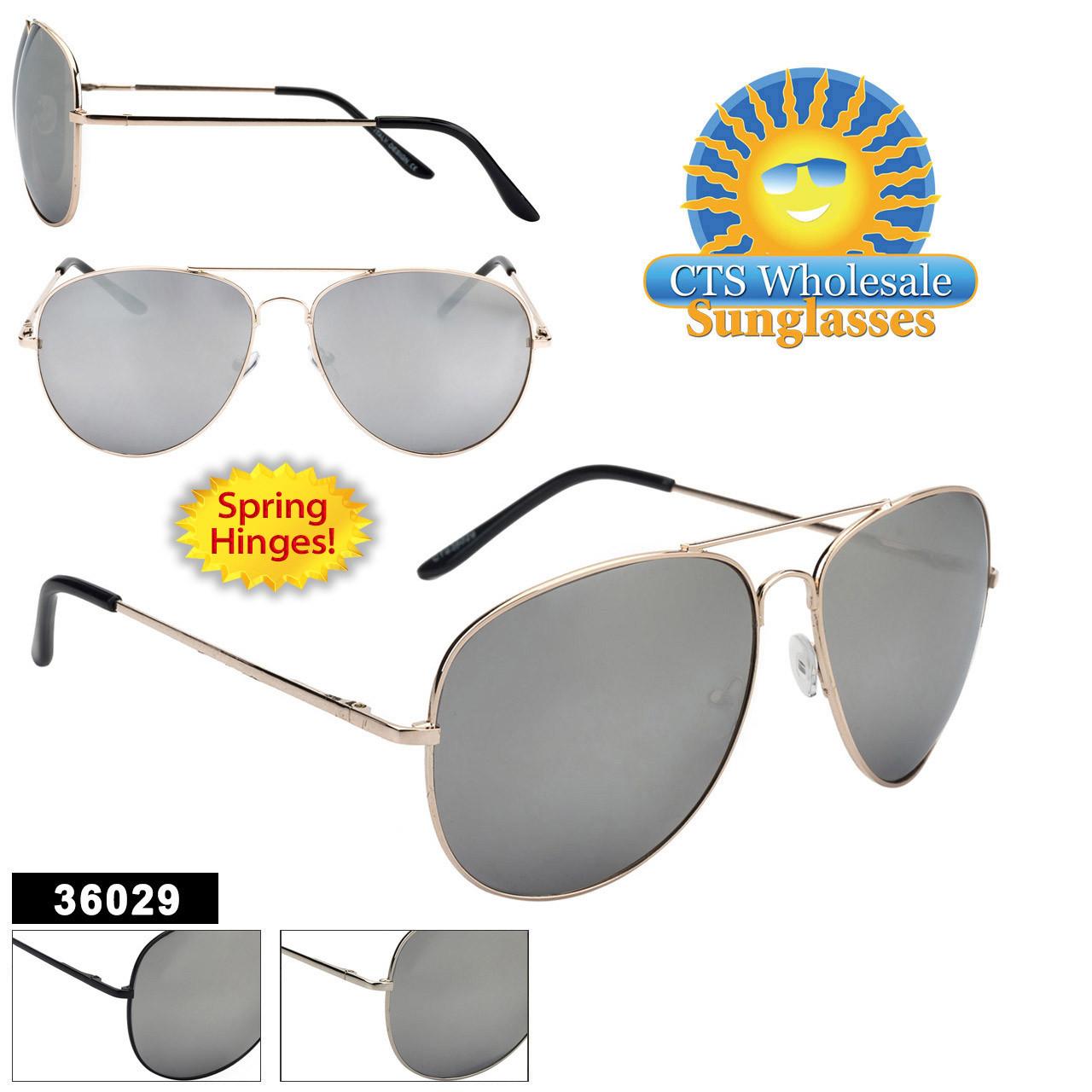 Wholesale Mirrored Aviators - Style #36029 Spring Hinge