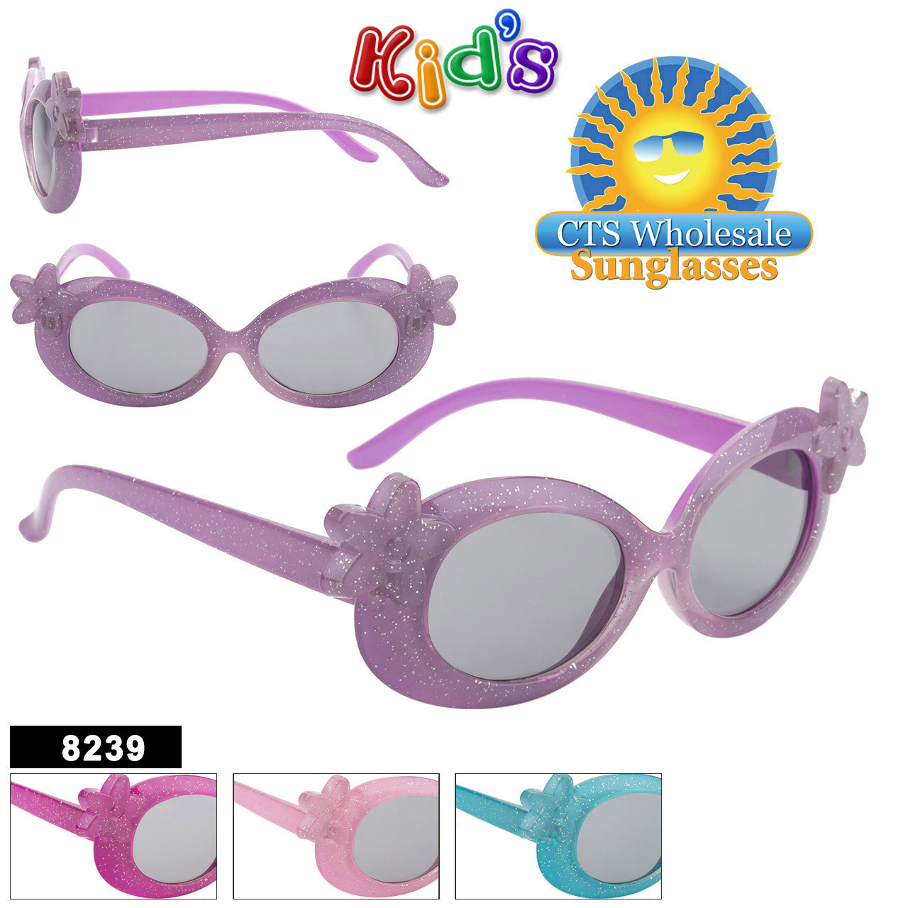 Girl's Wholesale Sunglasses - Style #8239