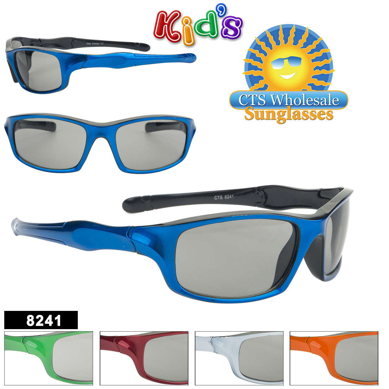 Kids Sports Sunglasses - Style #8241