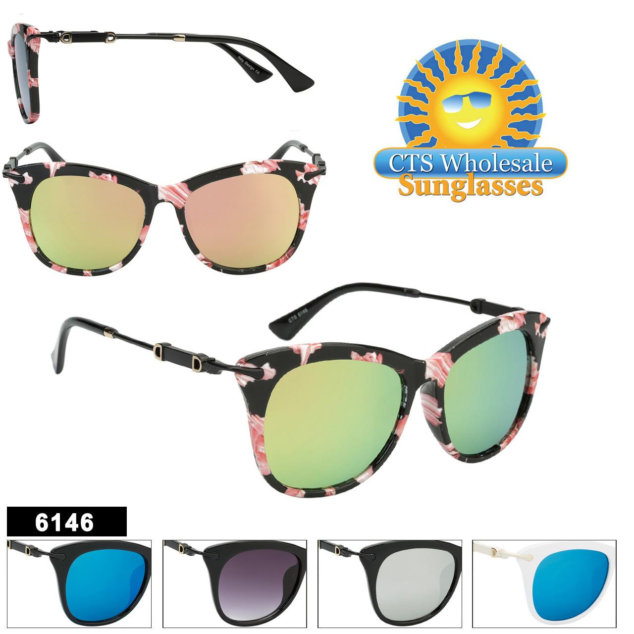 Wholesale Mirrored Retro Fashion Sunglasses - Style #6146