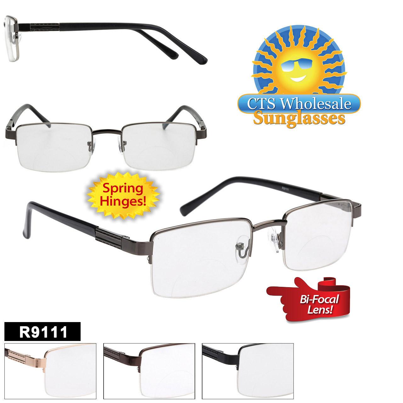 Wholesale Bi-Focal Reading Glasses - R9111 Spring Hinges!