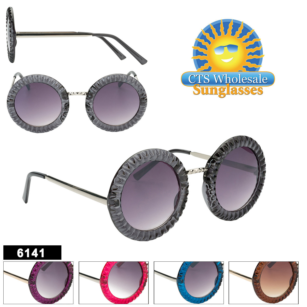 Wholesale Women's Retro Sunglasses - Style #6141